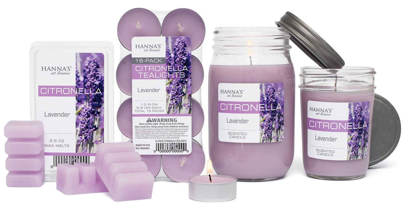 Citronella Lavender Scented Half Pint Jar Candle - Candlemart.com