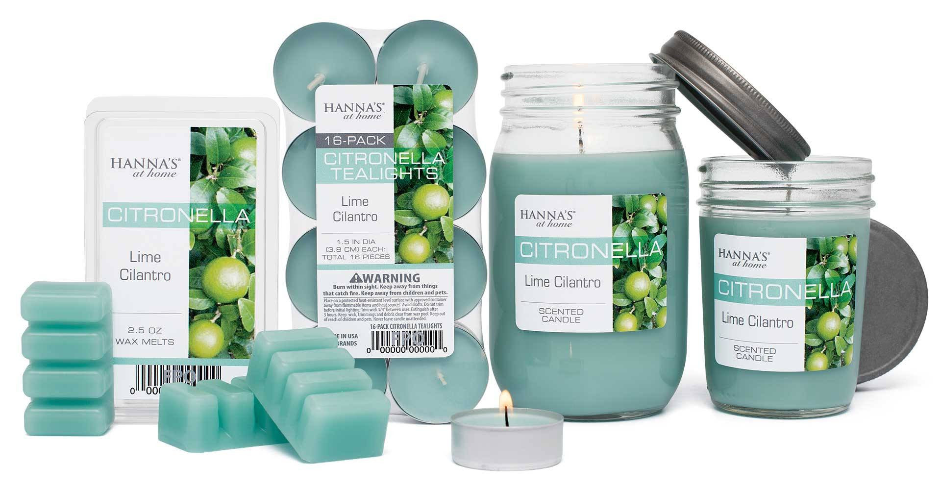 Citronella Lime Cilantro Scented Pint Jar Candle - Candlemart.com