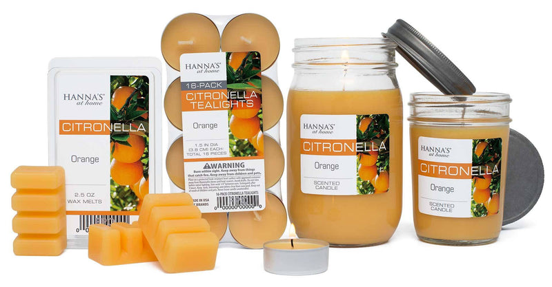 Citronella Orange Scented Half Pint Jar Candle - Candlemart.com