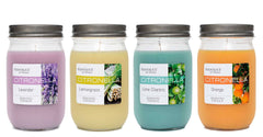 Citronella Lemongrass Scented Pint Jar Candle - Candlemart.com