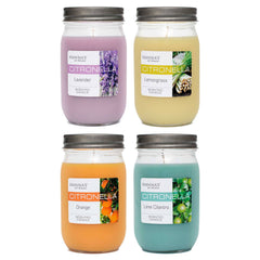 Citronella Orange Scented Pint Jar Candle - Candlemart.com