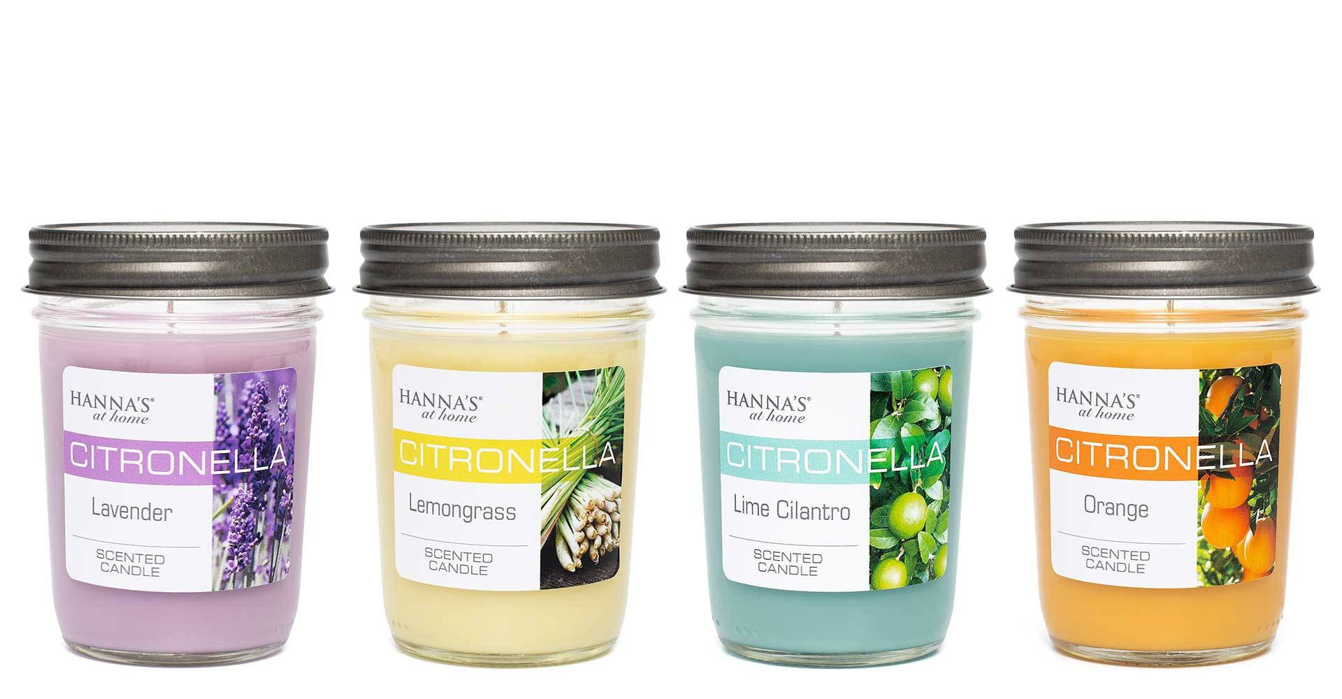 Citronella Lime Cilantro Scented Half Pint Jar Candle Candles Candlemart.com $ 6.99