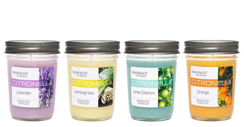 Citronella Lemongrass Scented Half Pint Jar Candle - Candlemart.com