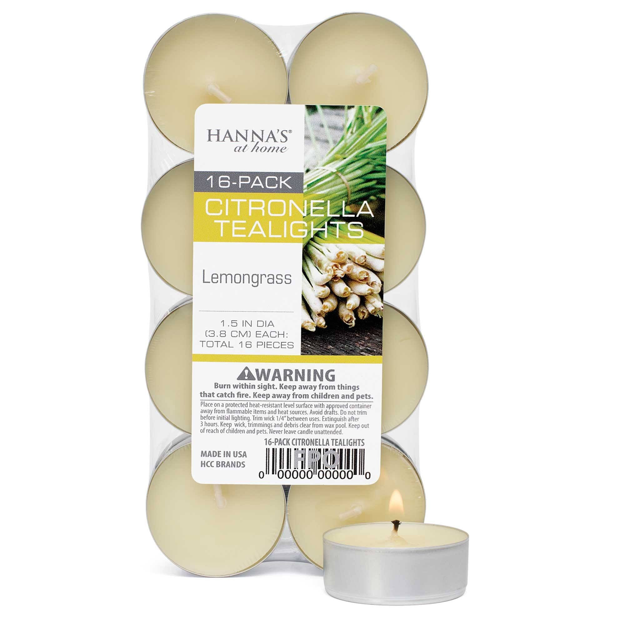 Citronella Lemongrass Scented Tealights Candles Candlemart.com $ 1.99