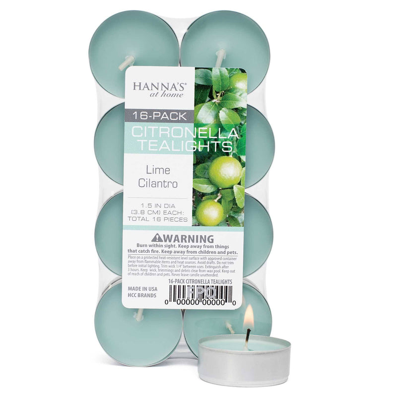 Citronella Lime Cilantro Scented Tealights - Candlemart.com