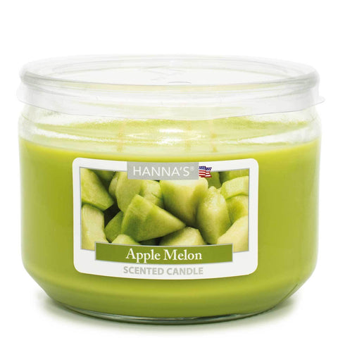 Apple Melon Scented 3 wick Candle