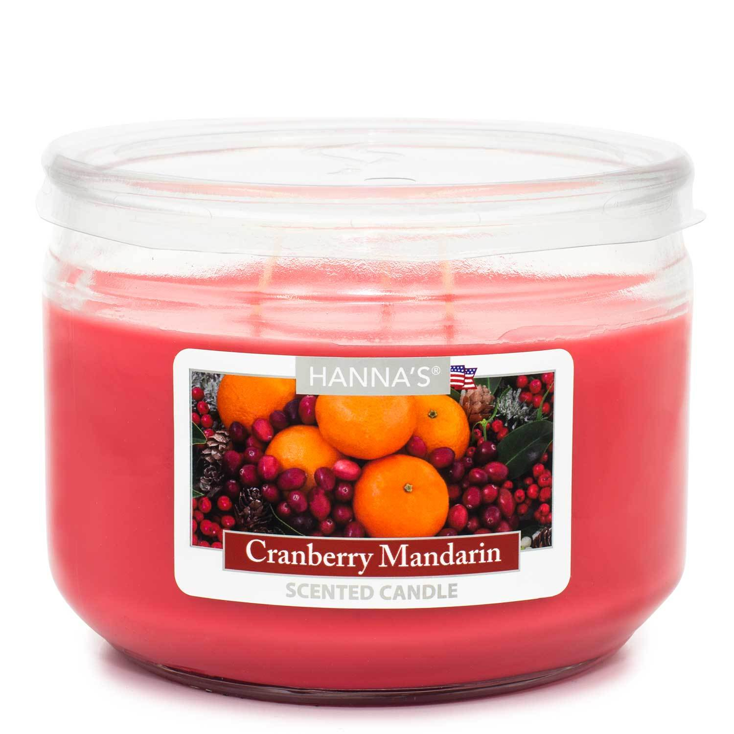 Cranberry Mandarin Scented 3 wick Candle - Candlemart.com
