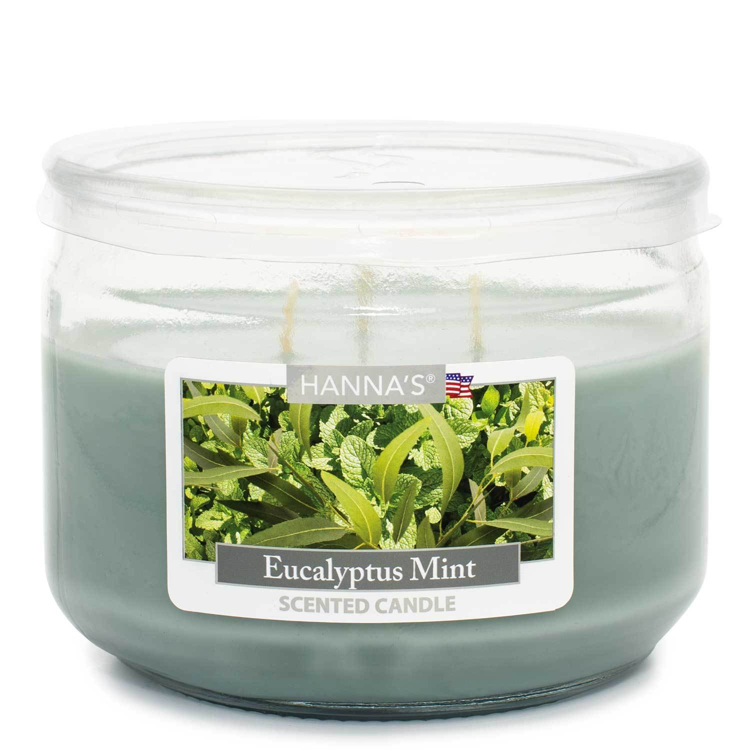 Eucalyptus Mint Scented 3 wick Candle Candles Candlemart.com $ 7.99