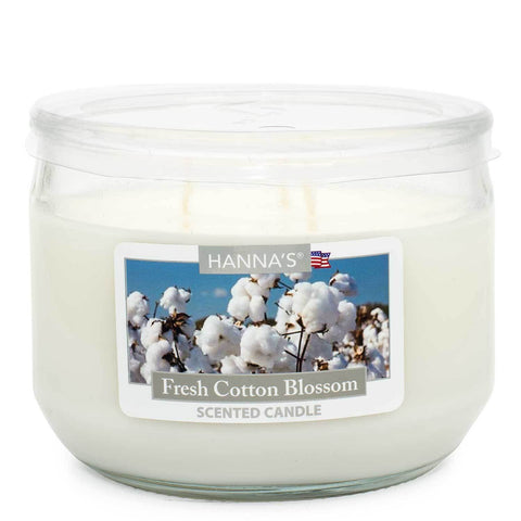 Fresh Cotton Blossom Scented 3 wick Candle Candles Candlemart.com $ 7.99