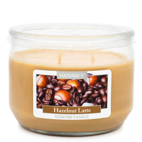 Hazelnut Latte Scented 3 wick Candle Candles Candlemart.com $ 7.99