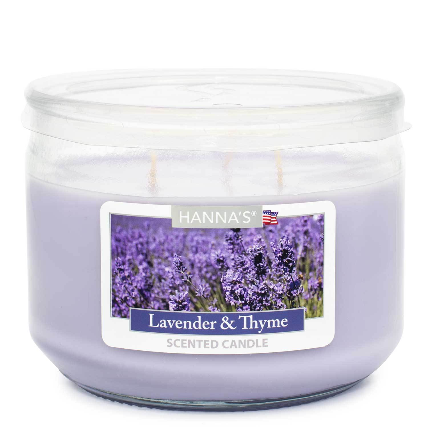 Lavender Thyme Scented 3 wick Candle Candles Candlemart.com $ 7.99