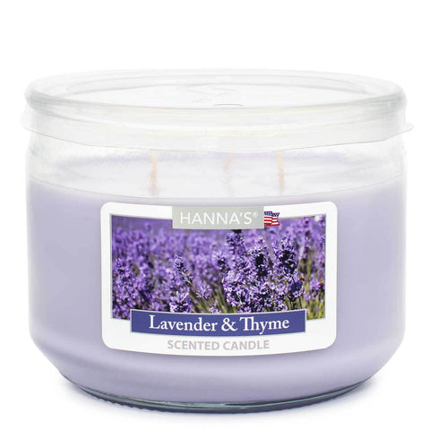 Lavender Thyme Scented 3 wick Candle