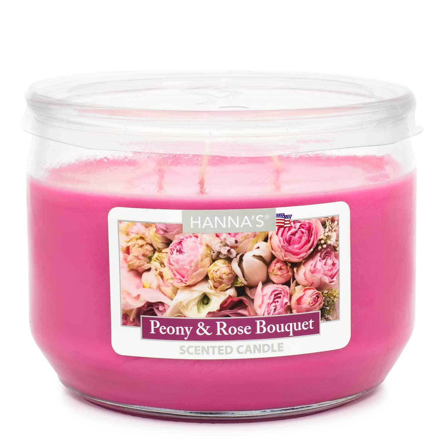 Peony Rose Bouquet Scented 3 wick Candle Candles Candlemart.com $ 7.99