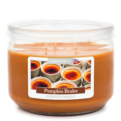 Pumpkin Brulee Scented 3 wick Candle Candles Candlemart.com $ 7.99