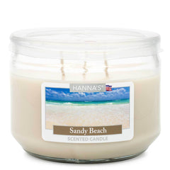 Sandy Beach Scented 3 wick Candle - Candlemart.com