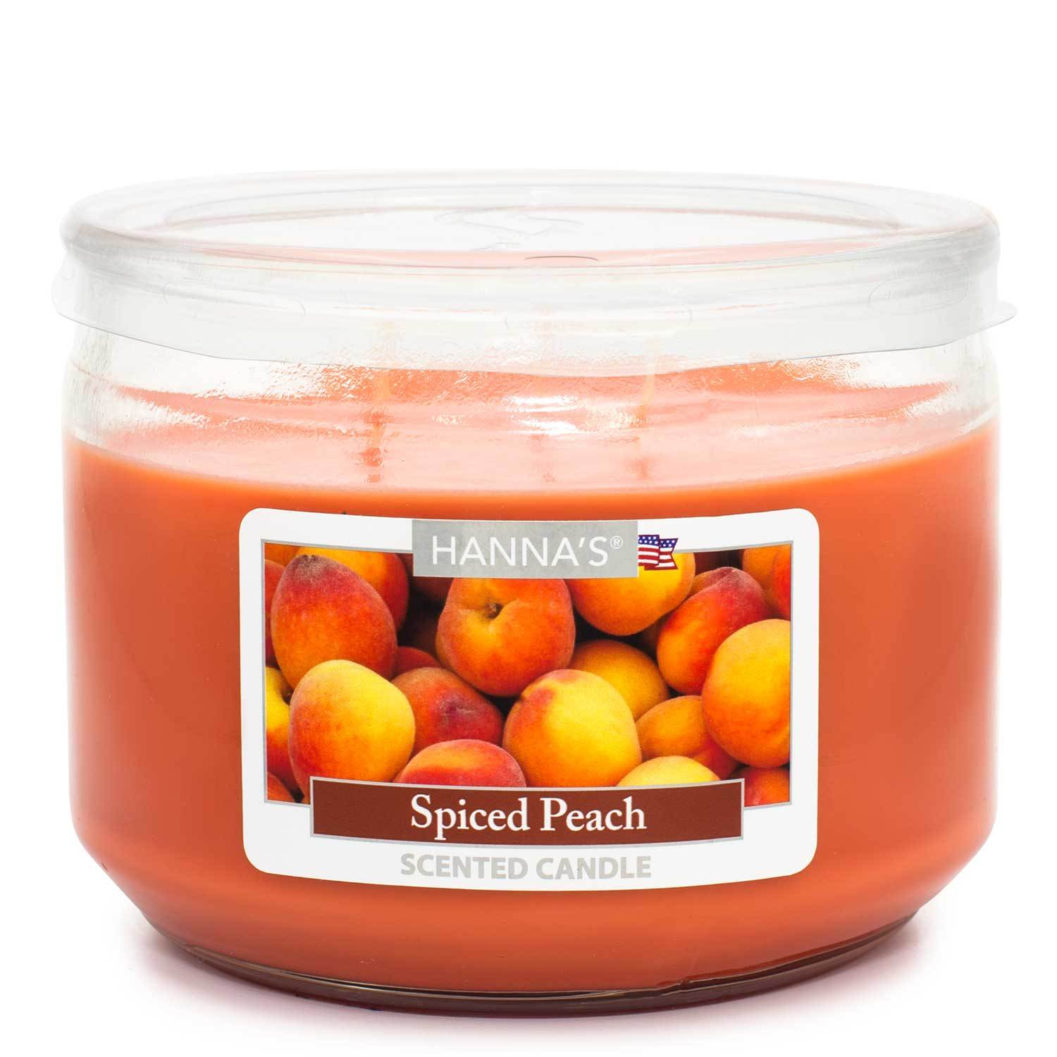 Spiced Peach Scented 3 wick Candle Candles Candlemart.com $ 7.99