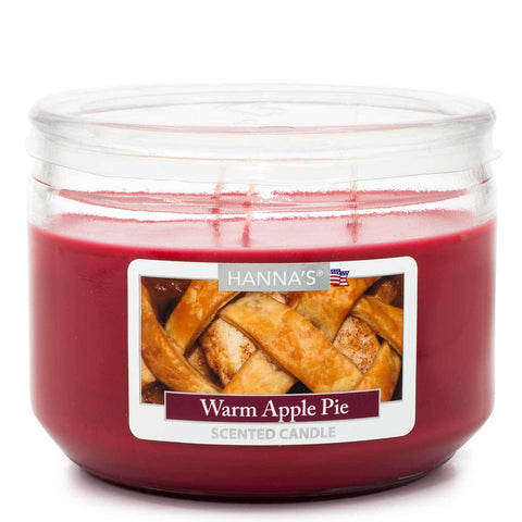 Warm Apple Pie Scented 3 wick Candle Candles Candlemart.com $ 7.99