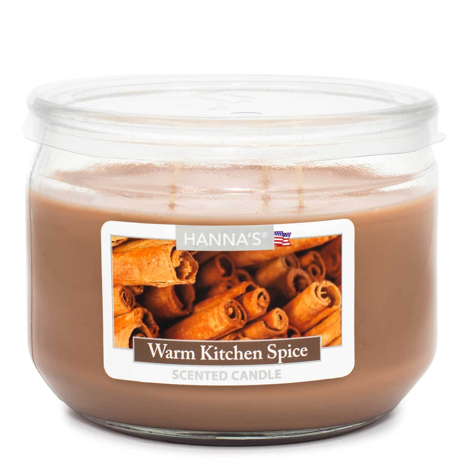 Warm Kitchen Spice Scented 3 wick Candle Candles Candlemart.com $ 7.99