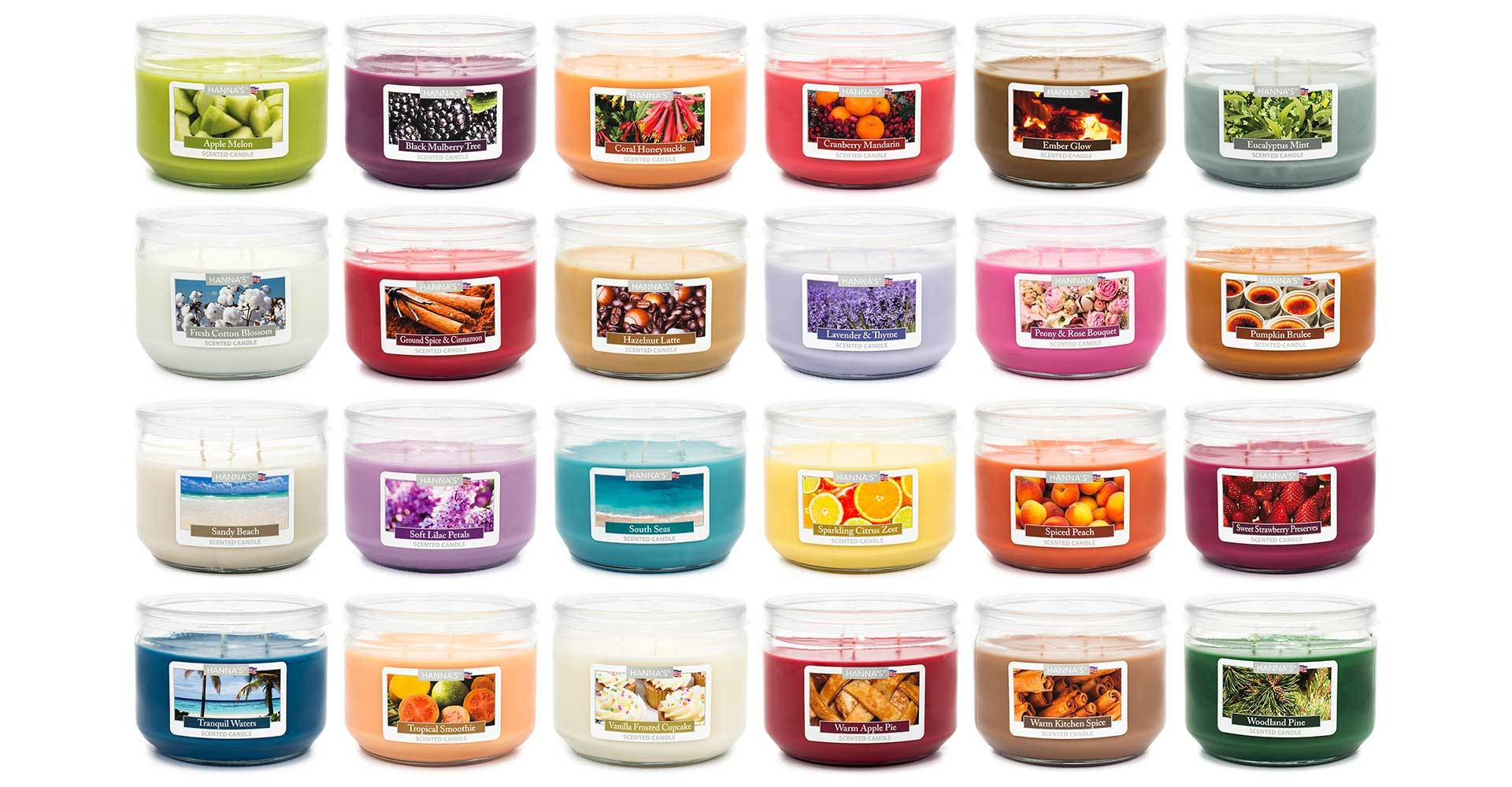 Soft Lilac Petals Scented 3 wick Candle - Candlemart.com