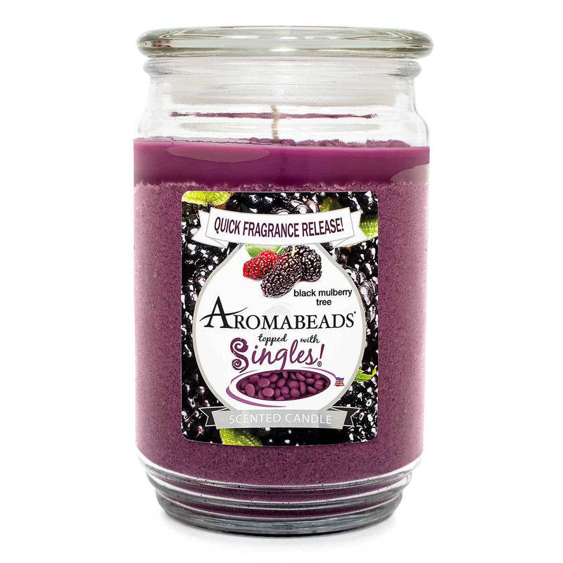 Aromabeads Black Mulberry Tree Scented Candle - Candlemart.com