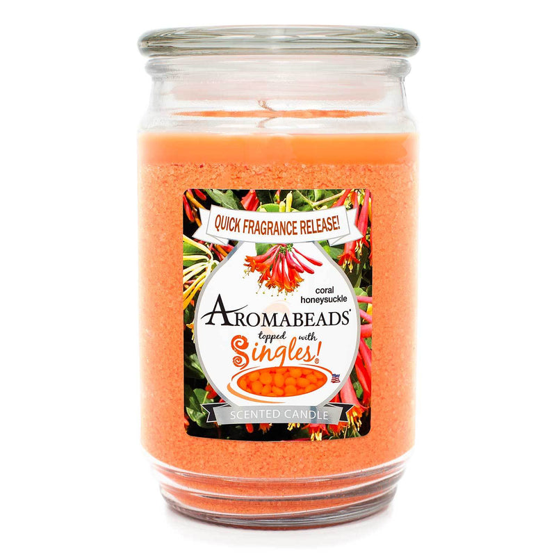 Aromabeads Coral Honeysuckle Scented Candle - Candlemart.com