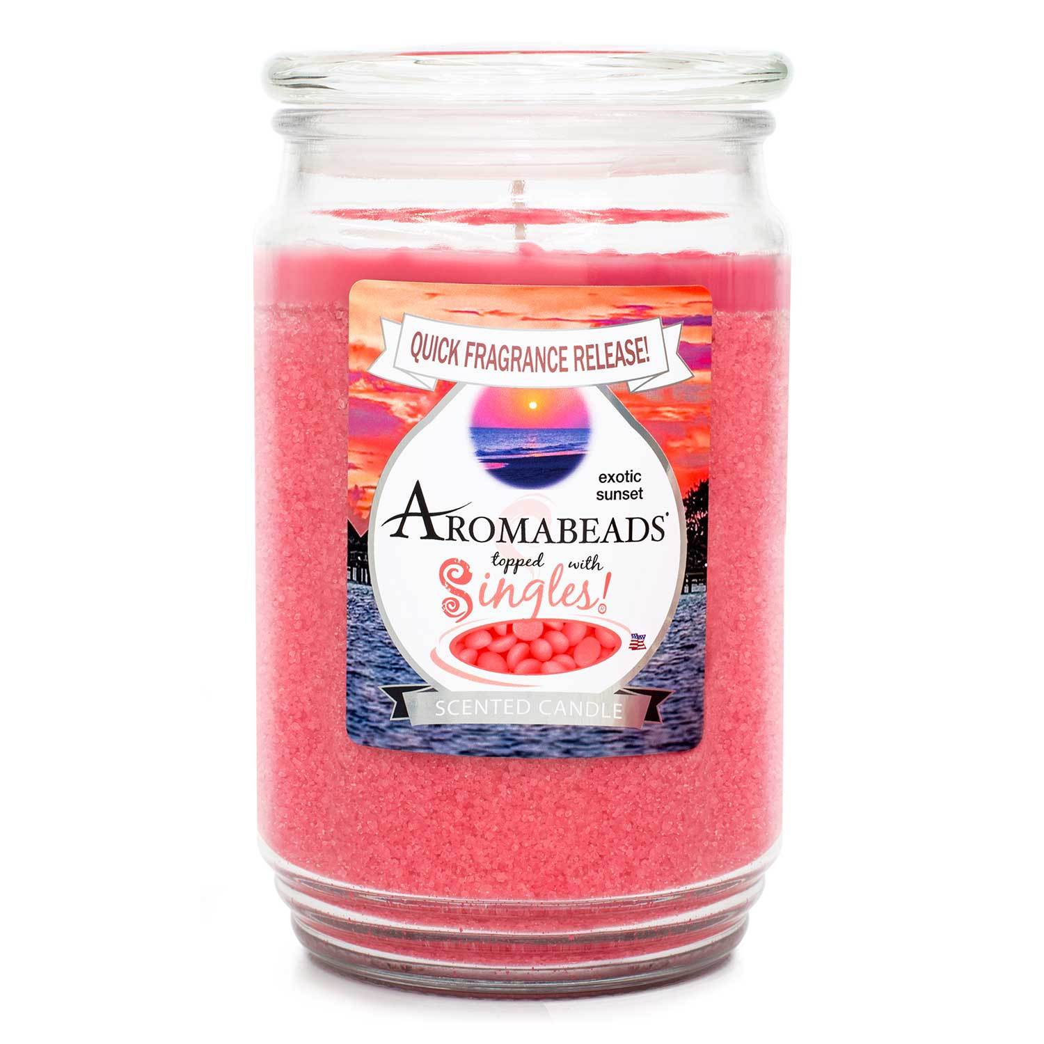 Aromabeads Exotic Sunset Scented Candle Aromabeads Candlemart.com $ 9.99