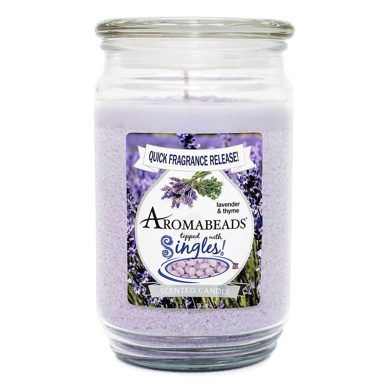Aromabeads Lavender Thyme Scented Candle