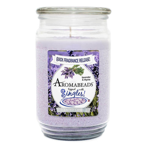 Aromabeads Lavender Thyme Scented Candle Aromabeads Candlemart.com $ 9.99
