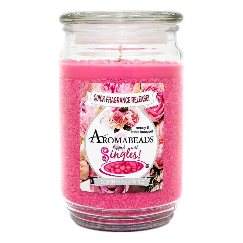 Aromabeads Peony Rose Bouquet Scented Candle
