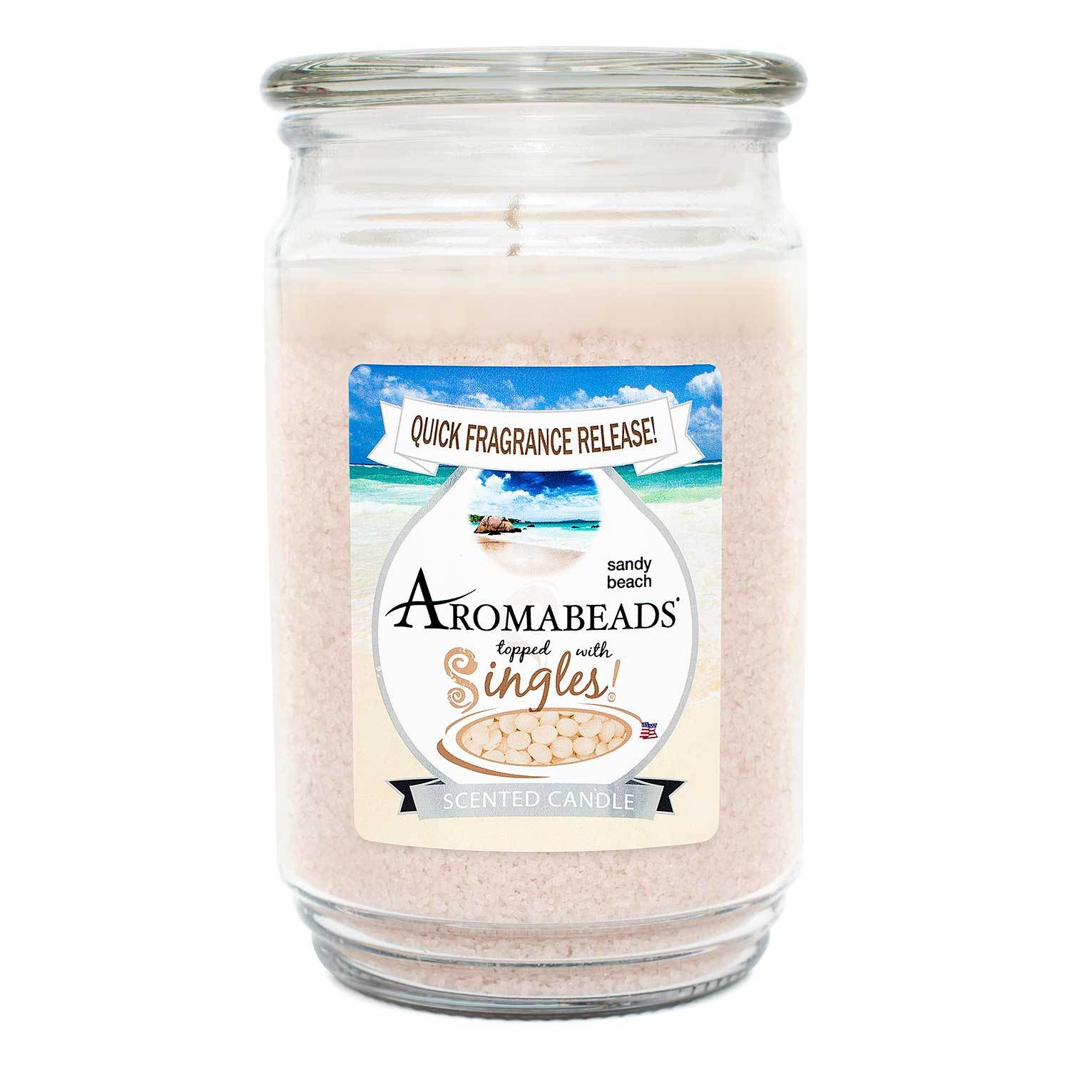Aromabeads Sandy Beach Scented Candle Aromabeads Candlemart.com $ 9.99