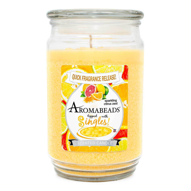 Aromabeads Sparkling Citrus Zest Scented Candle