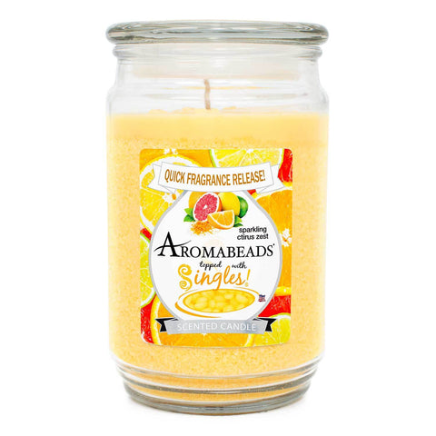 Aromabeads Sparkling Citrus Zest Scented Candle Aromabeads Candlemart.com $ 9.99