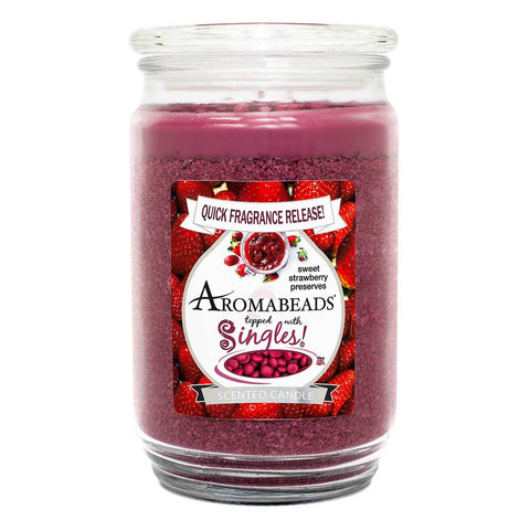Aromabeads Sweet Strawberry Preserves Scented Candle Aromabeads Candlemart.com $ 9.99