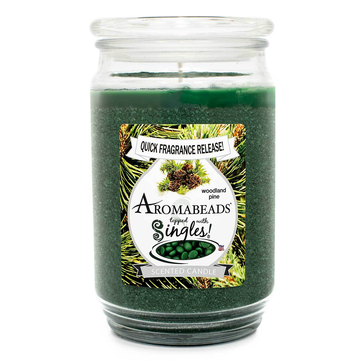 Aromabeads Woodland Pine Scented Candle