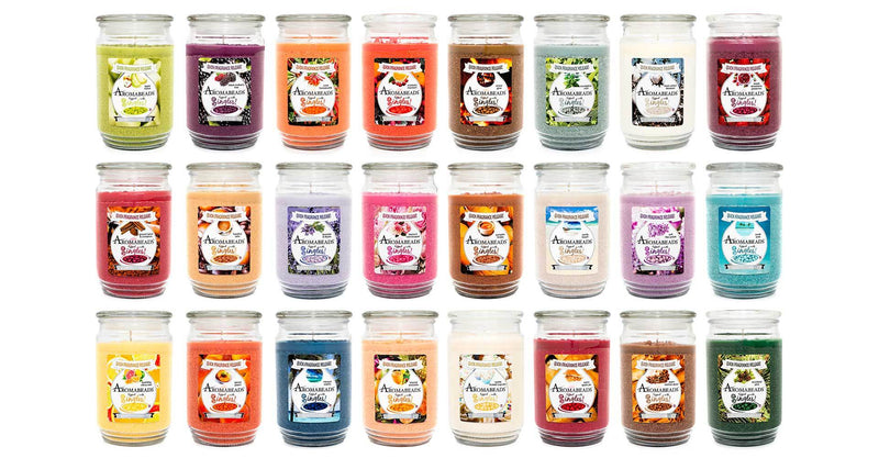 Aromabeads Fresh Cotton Blossom Scented Candle