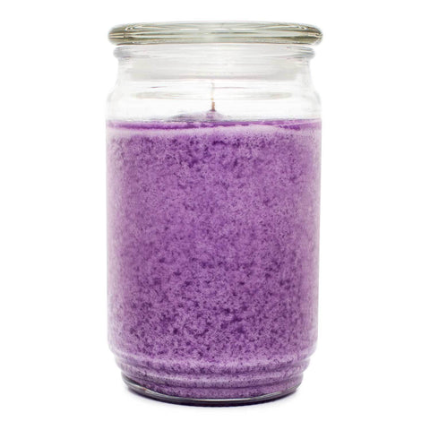 Soft Lilac Petals Scented Mottled Wax Candle - Candlemart.com
