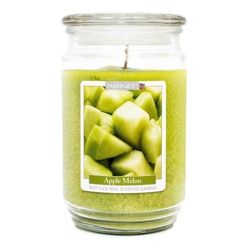 Apple Melon Scented Mottled Wax Candle