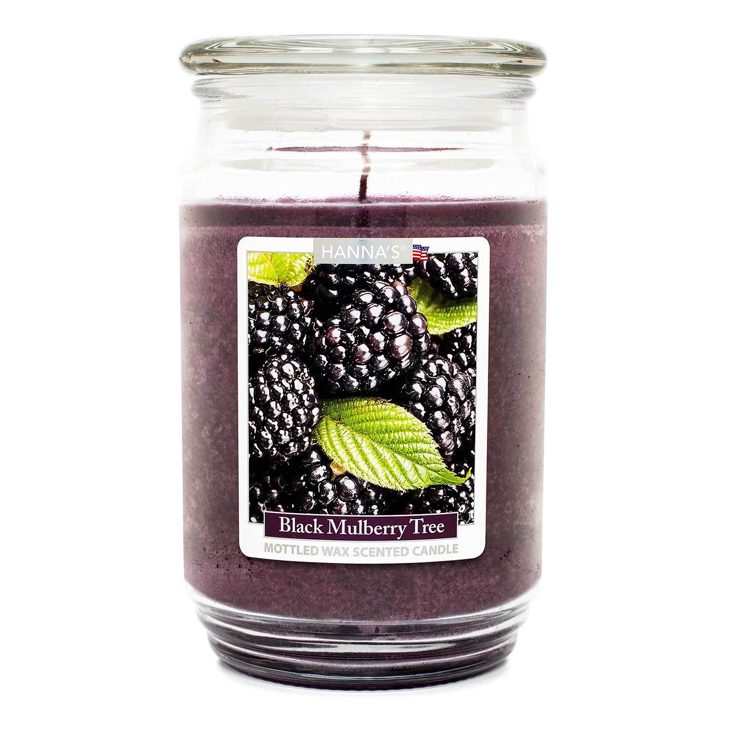 Black Mulberry Tree Scented Mottled Wax Candle - Candlemart.com