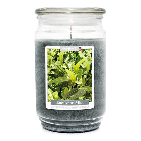 Eucalyptus Mint Scented Mottled Wax Candle - Candlemart.com