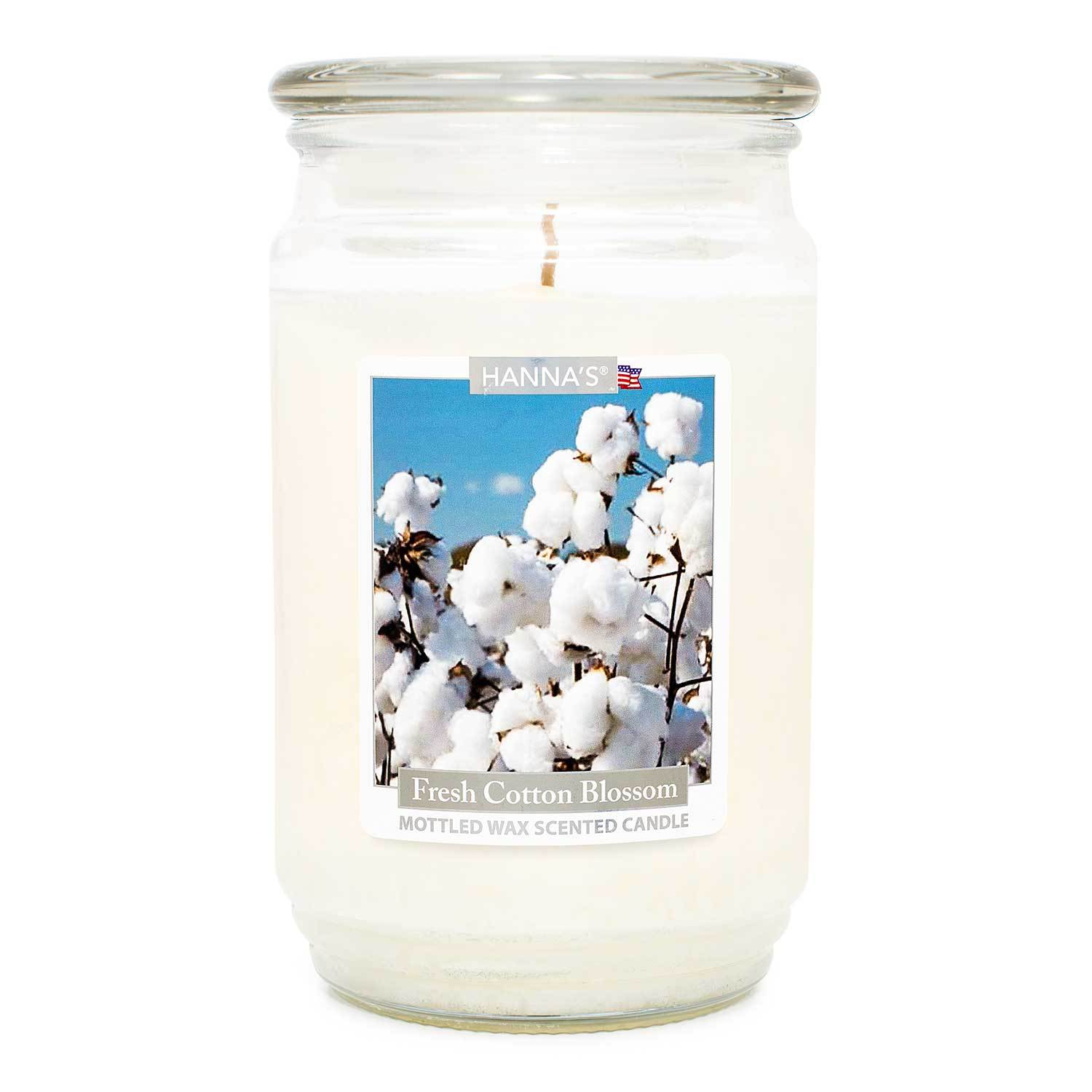 Fresh Cotton Blossom Scented Mottled Wax Candle - Candlemart.com