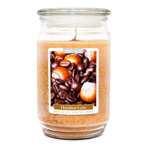 Hazelnut Latte Scented Mottled Wax Candle
