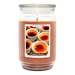 Pumpkin Brulee Scented Mottled Wax Candle Candles Candlemart.com $ 13.99