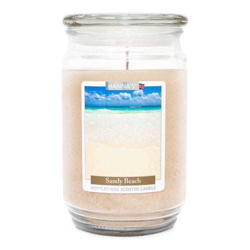 Sandy Beach Scented Mottled Wax Candle - Candlemart.com