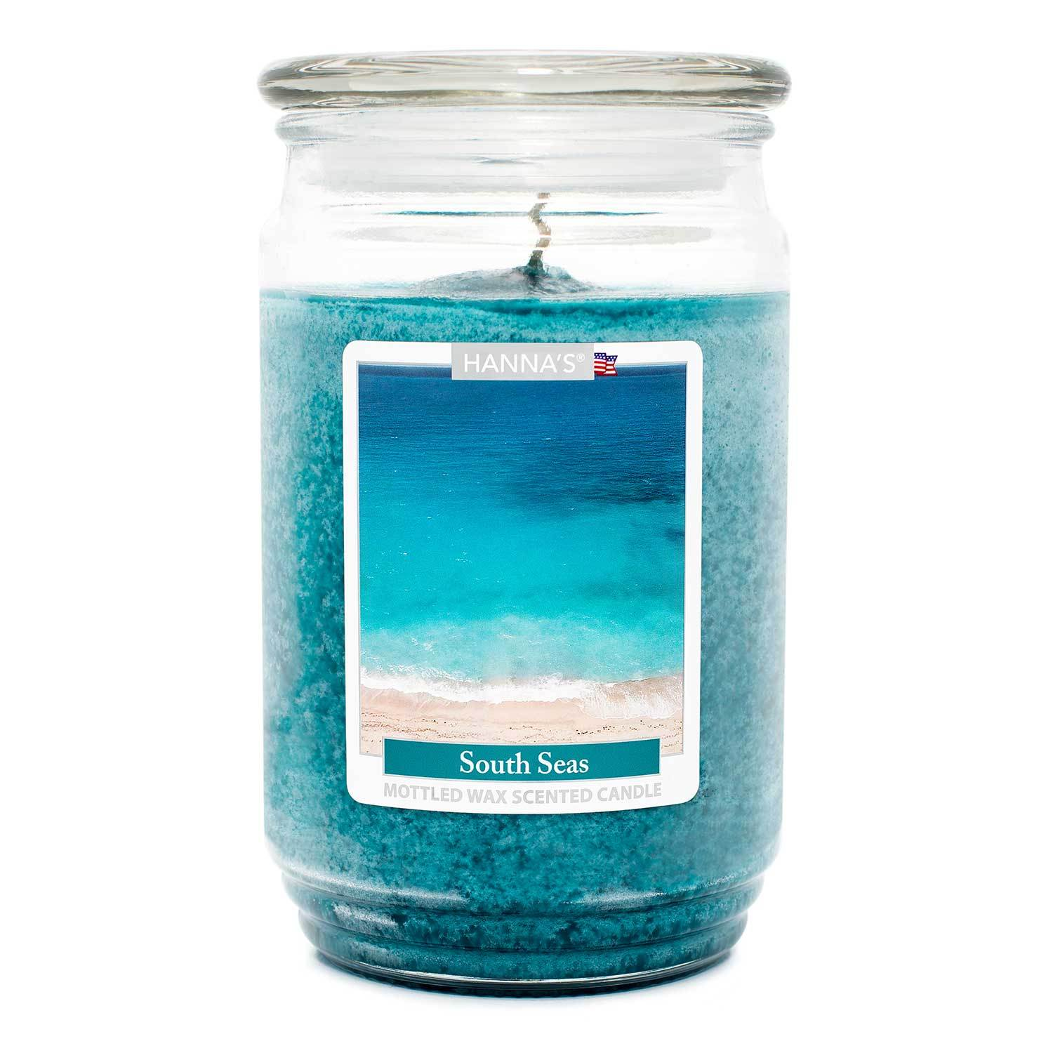 South Seas Scented Mottled Wax Candle - Candlemart.com