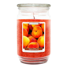 Spiced Peach Scented Mottled Wax Candle