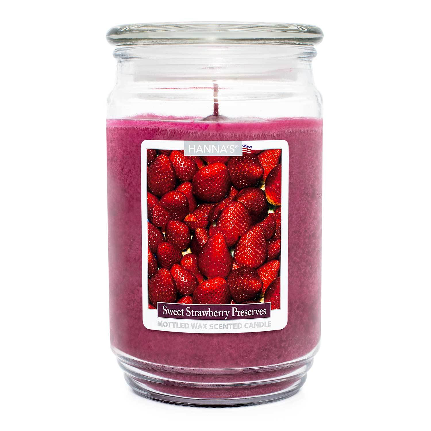 Sweet Strawberry Preserves Scented Mottled Wax Candle Candles Candlemart.com $ 13.99