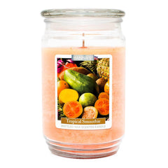 Tropical Smoothie Scented Mottled Wax Candle - Candlemart.com