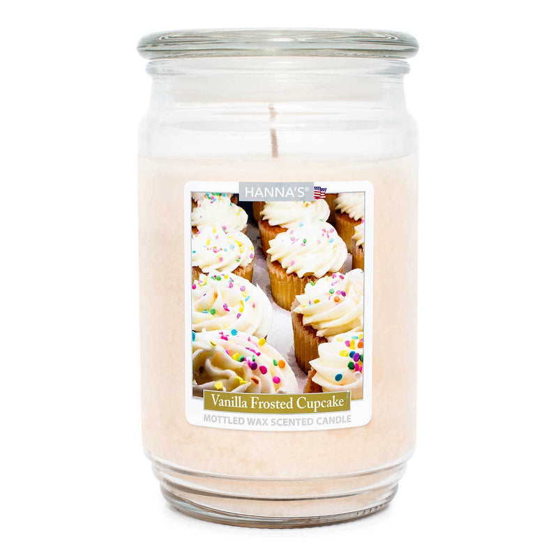 Vanilla Frosted Cupcake Scented Mottled Wax Candle - Candlemart.com