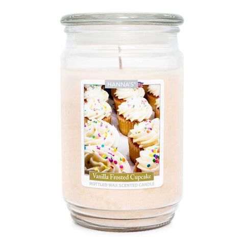 Vanilla Frosted Cupcake Scented Mottled Wax Candle Candles Candlemart.com $ 13.99