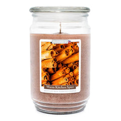 Warm Kitchen Spice Scented Mottled Wax Candle